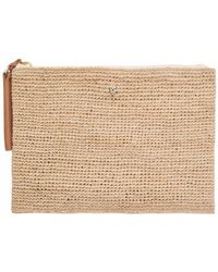 Helen Kaminski - Karina Clutch In Natural/desert - Lyst