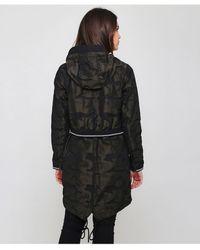 Creenstone - 3/4 Hooded Camo Dark Pine Jacket - Lyst