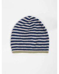 Bellerose - Gyha Stripe Hat In Blue, Ecru And Green - Lyst