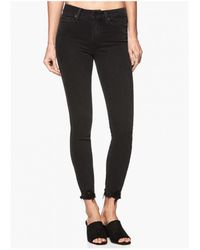 PAIGE - Margot Crop Ultra Skinny Jeans With Distressed Hem - Lyst