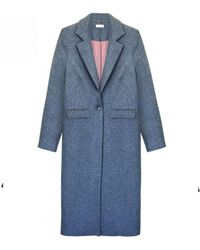 INTROPIA - Grey Crombie Coat - Lyst