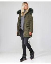 Oakwood - Saphir Luxe Long Fur Trim Parka - Lyst