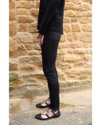 2nd Day - Jolie Cropped Boss Trouser In Black Denim - Lyst