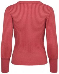 SELECTED - Pinna Knitted Sweater In Slate Rose - Lyst