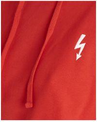 Essentiel - 'under Pressure' Hoodied Sweatshirt In Red - Lyst