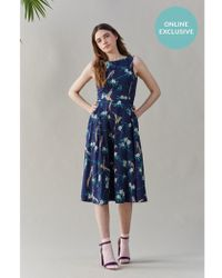 Emily and Fin - Jasmine Hummingbird Midi Dress - Lyst