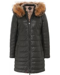 Oakwood - Mary Long Fur Trim Leather Jacket - Lyst