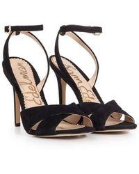 a8e62e2437d136 Sam Edelman Yara Chunky Heel Sandals in Black - Lyst