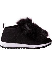 Jimmy Choo - Slip-on Norway Fur Nylon Logo Black - Lyst