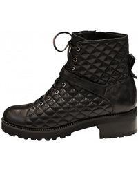 Lorenzo Masiero - Women's W193553 Lace Up Biker Ankle Boot In Black - Lyst