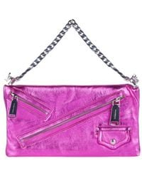 DSquared² - Clutch Babe Wire Laminated Leather Bag - Lyst