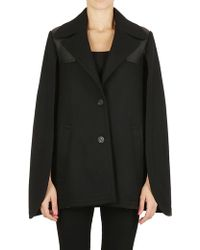 Neil Barrett - Single Breasted Coat In Black - Lyst