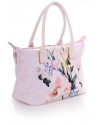 153b6a62708 Ted Baker Sollcon Sparkling Swan Print Small Shopper Bag - Lyst