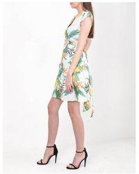 Dex - Tropical Print Button Dress - Lyst