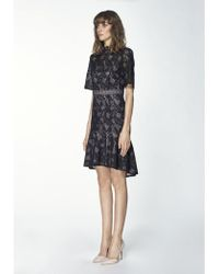 Paisie - Lace Dress With Flared Hem - Lyst