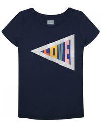 ORWELL + AUSTEN - Love T-shirt In Navy - Lyst