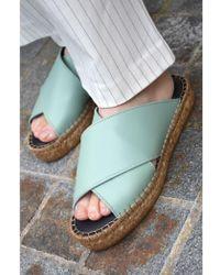 Royal Republiq - Wayfarer Cambridge Blue Cross Sandals - Lyst