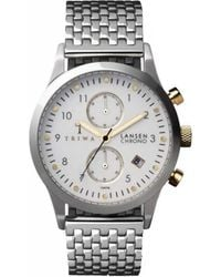 Triwa - Stirling Ivory Lansen Chrono Stainless Steel Watch - Lyst