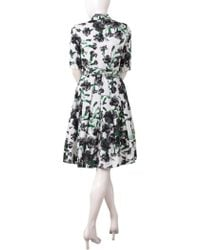 Samantha Sung - Patricia Dress In Bright Ivory Black Winter Carnation - Lyst