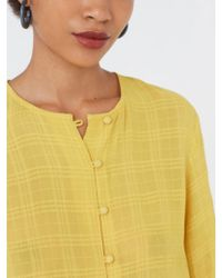 Nice Things - Crepe Blouse In Mustard Yellow - Lyst
