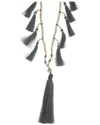 Tribe + Fable - Tribe + Fable Multi Tassel Necklace - Lyst