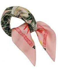 POM Amsterdam - Pink Parrot Silk Scarf - Lyst