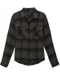 Rails - Pepper Classic Checked Shirt Olive Black - Lyst