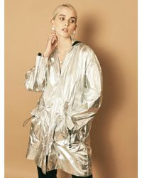 House Of Sunny - Parachute Parka In Metallic - Lyst