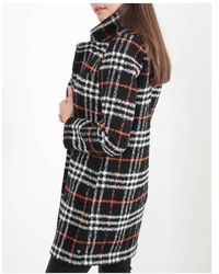 Maison Scotch - Rib Collar Bonded Wool Coat - Lyst