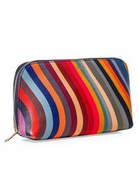 PS by Paul Smith 'swirl' Print Leather Zip-around Purse - Multicolour