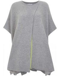 Duffy - Ribbed Cashmere Poncho - Lyst