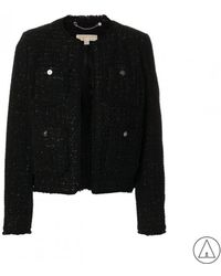 MICHAEL Michael Kors - Michael Kors Tweed Jacket In Black - Lyst