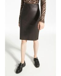 Weekend by Maxmara - Weekend Maxmara Salima Stretch Nappa Leather Skirt In Coffee - Lyst