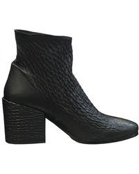 Lorenzo Masiero - Low Blockheel Leather Ankle Boots W183a200 Size: 36, C - Lyst