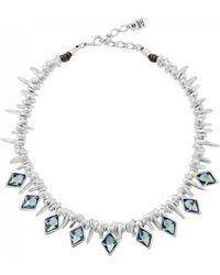 Uno De 50 - Uno De 50 Uno De 50 Stalactite Necklace Silver - Lyst