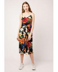 Azalea - Tie Front Midi Floral Dress - Lyst