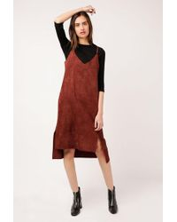 Azalea - Louna Suede Dress - Lyst