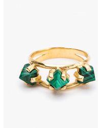 Unearthen - Triarch Ring Malachite 18k - Lyst