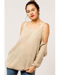 Azalea - Cold Shoulder Knit Jumper - Lyst