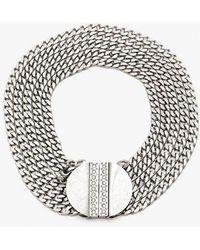 Nicole Romano - Multi Chain Medallion Necklace - Lyst