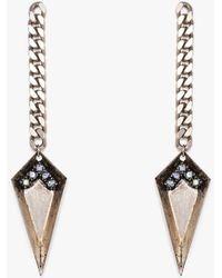 Nicole Romano - Spear & Chain Drop Earring P - Lyst