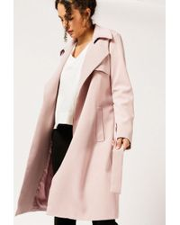 Azalea - Open Trench Coat - Lyst