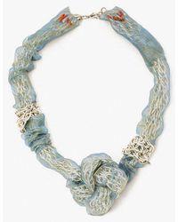 Nicole Romano - Organza & Chain Knot Necklace - Lyst