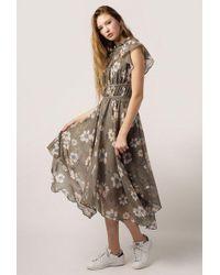 Azalea - High Neck Fleur Garden Dress - Lyst