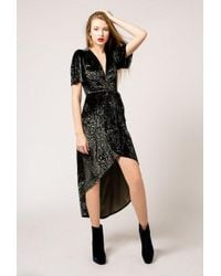 Azalea | Velvet Floral Wrap Dress | Lyst