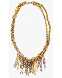 Nicole Romano   Hand Woven W/ Lav Chain Necklace   Lyst
