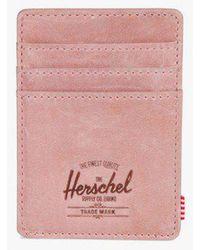 Herschel Supply Co. - Raven Leather Card Holder - Lyst