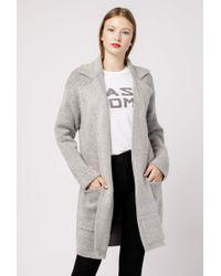 Azalea - Collared Sweater Cardigan - Lyst