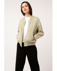 Monrow - Quilted Bomber - Lyst