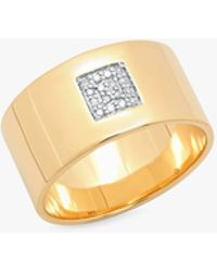 Eriness - Cigar Band W/ Pave Diamond Square - Lyst